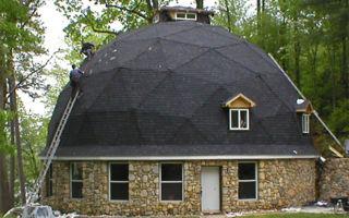 Необычная круглая крыша: монтаж, отделка