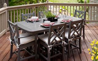 Идеи мебели для веранды и террасы