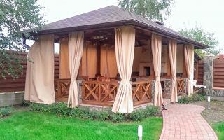 Выбираем шторы для садовой беседки и веранды
