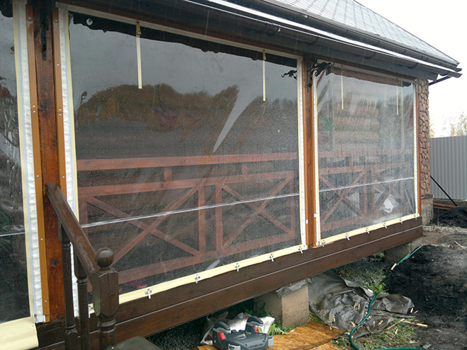 Прозрачные ПВХ шторы