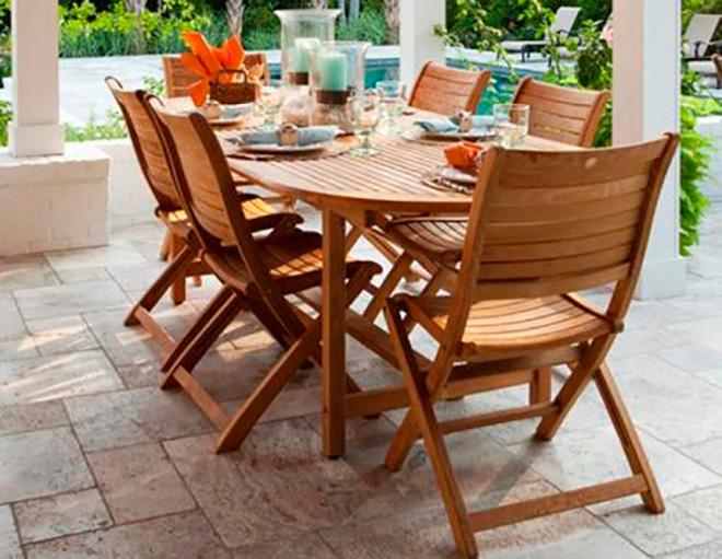 мебель из древесины для террасы