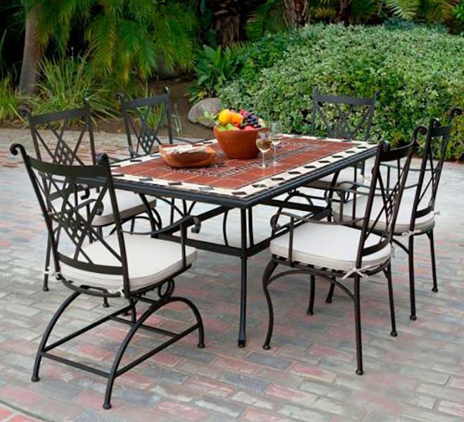 садовая мебель из металла