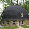 Круглая крыша беседки