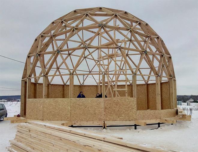 каркас круглой крыши