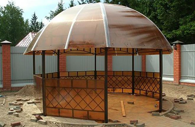 круглая крыша из поликарбоната